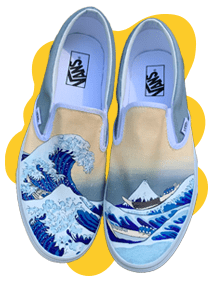 The Great Wave Off Kanagawa Shoes